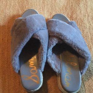 Sam Edelman faux fur slide espadrilles